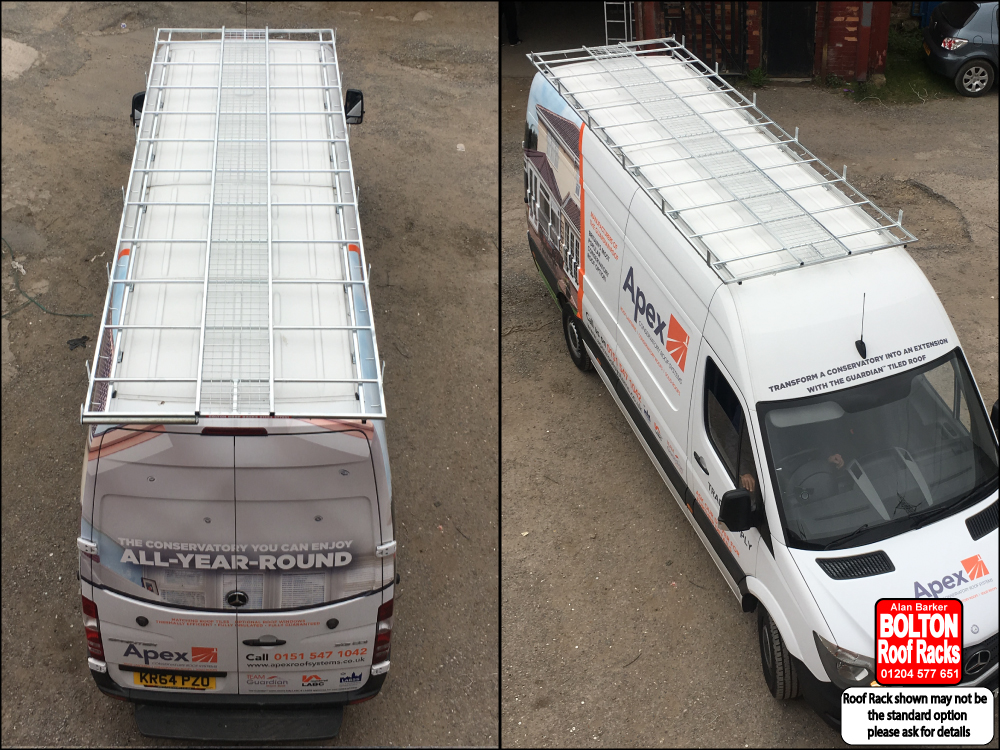 Mercedes Sprinter LWB Roof Rack from Bolton Roof Racks